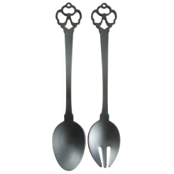 KEY - COUVERTS A SALADE ANTHRACITE