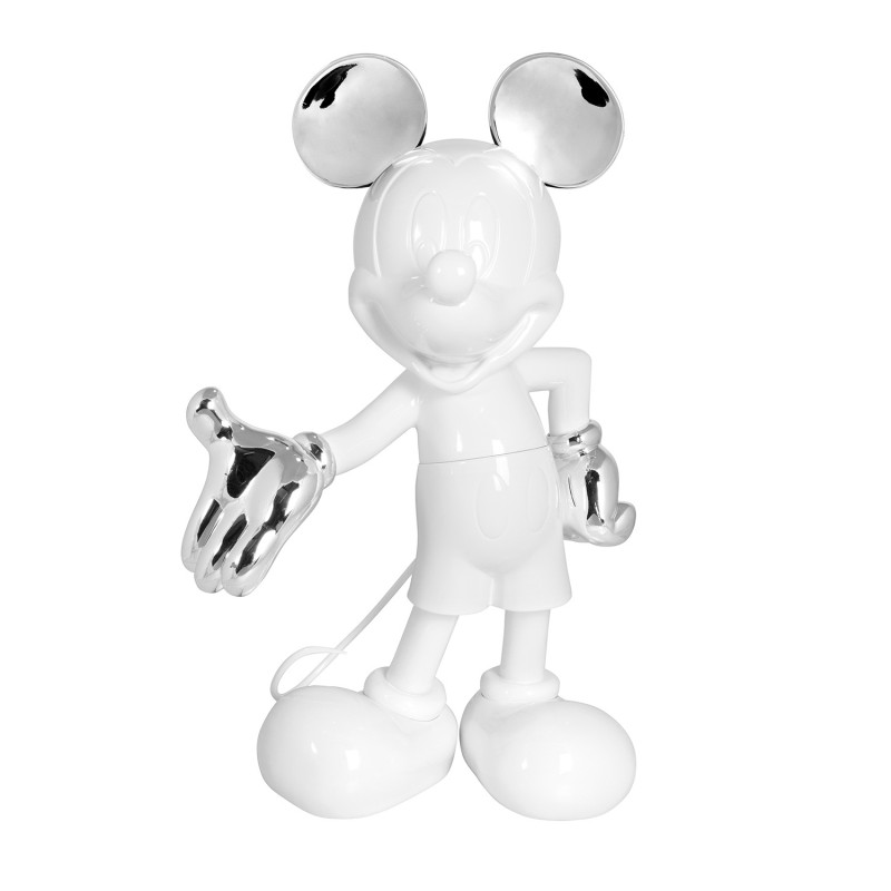 MICKEY WELCOME BICOLORE - 30 CM BLANC & ARGENT