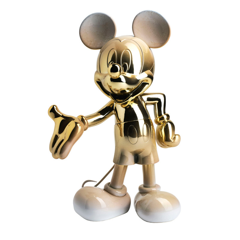 MICKEY WELCOME DEGRADE - 30 CM OR & BLANC
